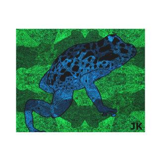 Rana tropical impresión en lienzo