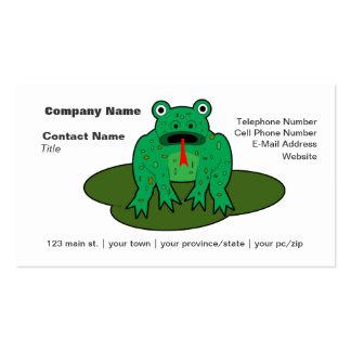 Rana verde - la rana consigue sobre ella tarjetas personales