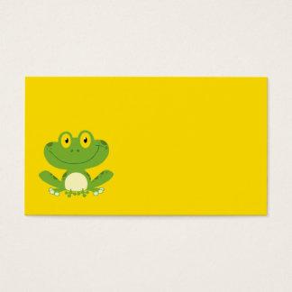 Rana verde linda tarjeta de negocios
