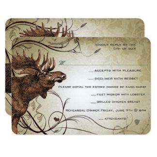Rancho de la casa de campo del bosque de los alces invitación 8,9 x 12,7 cm