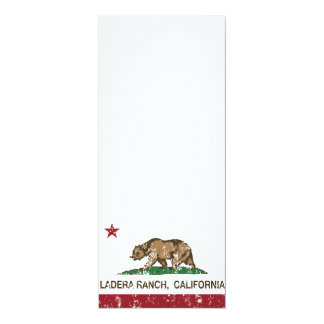 Rancho de Ladera de la bandera del estado de Invitación 10,1 X 23,5 Cm