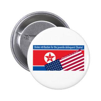 Ranting de Corea del Norte Chapa Redonda De 5 Cm