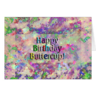 ¡Ranúnculo del feliz cumpleaños! Tarjeta De Felicitación