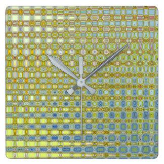 Ranúnculo y reloj cuadrado de Bleu del artista