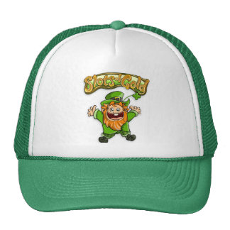 Ranuras de Tommy del gorra del oro