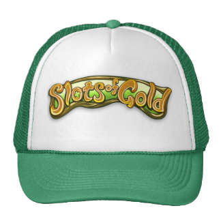 Ranuras del gorra del logotipo del oro