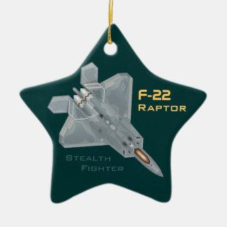 Rapaz F-22 Adorno De Cerámica