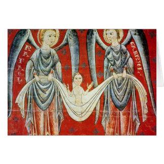 Raphael de St Gabriel y del St., c.1200 Tarjeta De Felicitación