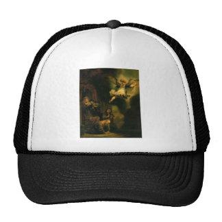 Raphael del arcángel de Rembrandt que toma licenci Gorro