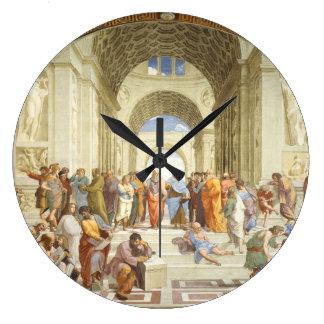 Raphael - La escuela de Atenas 1511 Reloj Redondo Grande