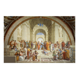 Raphael - La escuela de Atenas 1512 Póster