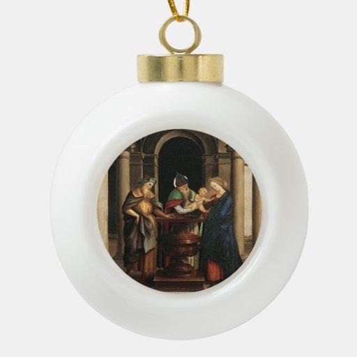 Raphael la presentación en el templo adorno