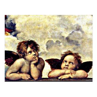 Raphael: Putti, detalle del Sistine Madonna Postal
