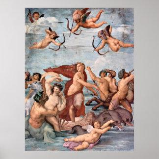 Raphael - Triumph de Galatea 1512 Póster