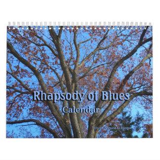 Rapsodia de azules - calendario
