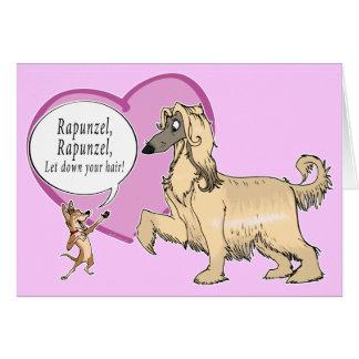 Rapunzel el afgano tarjeta de felicitación