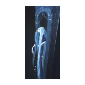 Rapunzel en la noche - impresión adaptable de la impresión en lona estirada