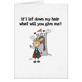 Rapunzel moderno tarjeta de felicitación