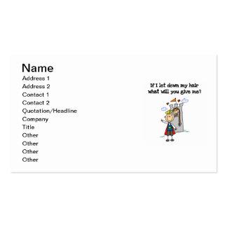 Rapunzel moderno plantilla de tarjeta de visita