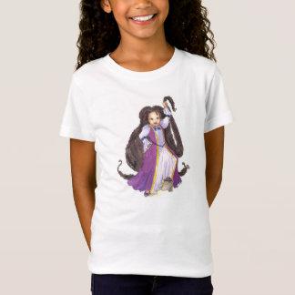 Rapunzel negro con la camiseta de los chicas de