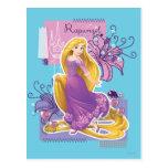 Rapunzel - princesa artística tarjeta postal