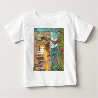 Rapunzel, soñando camiseta para bebé