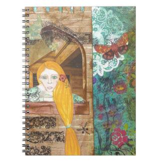Rapunzel, soñando cuaderno