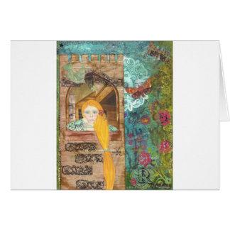 Rapunzel, soñando tarjeta de felicitación
