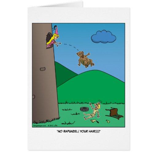 Rapunzel - tarjeta de felicitación del oso