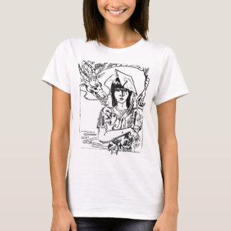 Raquel, afortunada, y el ganso camiseta