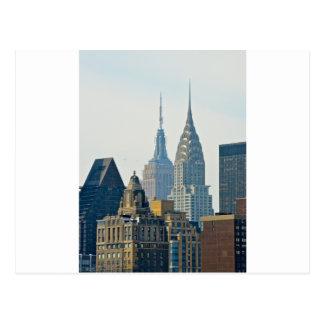 ¡Rascacielos de Nueva York! Postal