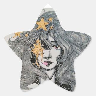 Rasgones de la estrella pegatina en forma de estrella