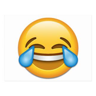 Rasgones del emoji de la alegría divertidos postal