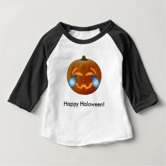 Rasgones del emoji de la calabaza de la camiseta