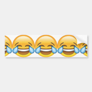 Rasgones gritadores de risa del emoji de la pegatina para coche