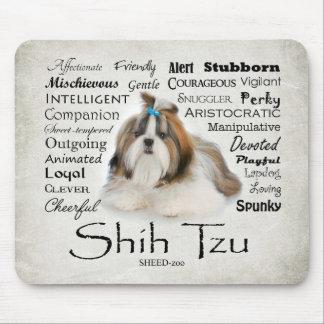 Rasgos Mousepad de Shih Tzu Alfombrilla De Ratón