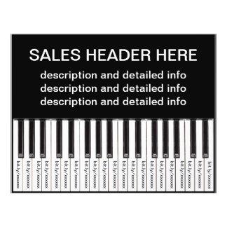 Rasgue el teclado personalizado del aviador de folleto 21,6 x 28 cm