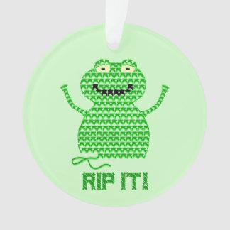 ¡Rasgúelo! Vector la rana del ganchillo (el fondo