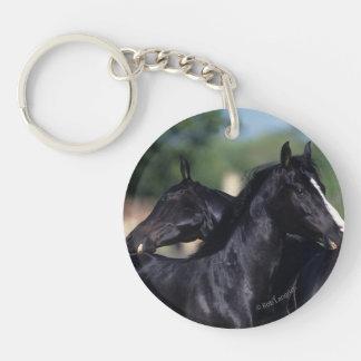Rasguño árabe del caballo llavero redondo acrílico a doble cara
