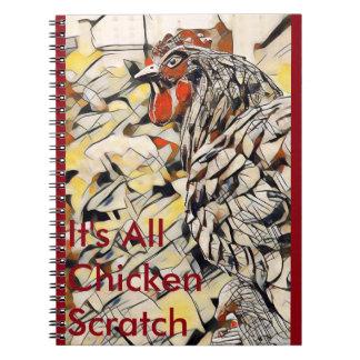 Rasguño del pollo (cuaderno) cuaderno
