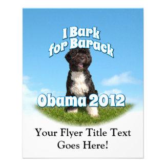 Raspo para Barack, BO el primer perro Obama Tarjetas Informativas