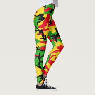 Rasta Camo Leggings