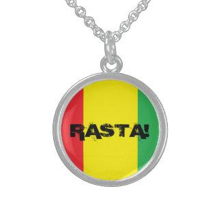 """""""RASTA!"""" collar de la plata esterlina del diseño"""