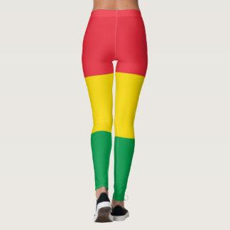 Rasta colorea el modelo rojo amarillo verde de las leggings