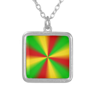 Rasta irradia amarillo verde y rojo collares personalizados