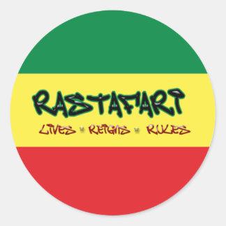 Rastafari vive pegatina de las reglas de los