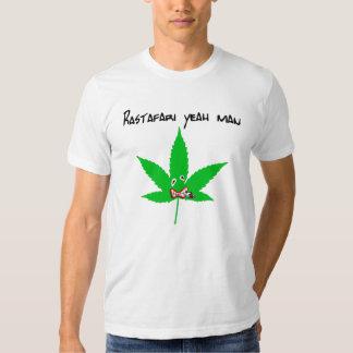 rastafari yeah man blanc camiseta