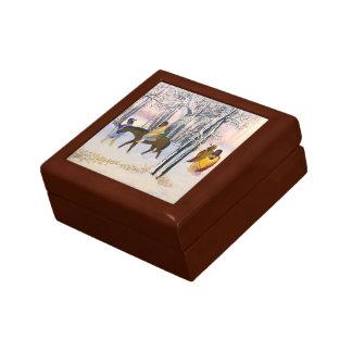Rastro de la caja del recuerdo de la bella arte de