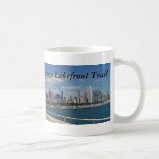 Rastro de la orilla del lago de Chicago Taza De Café