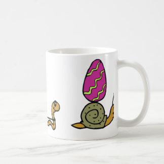 Rastro del caracol de Pascua Taza De Café